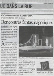 Le journal de Saone-et-Loire 25.07 2010