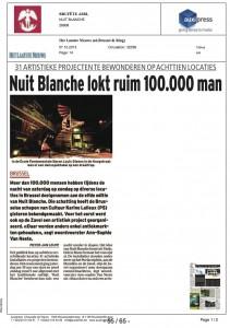 NUIT BLANCHE, bruxelles 2013